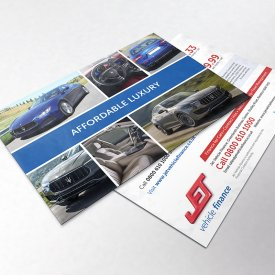 Jet Vehicle Finance Postcards