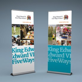 King Edward VI Five Ways Banner Stands